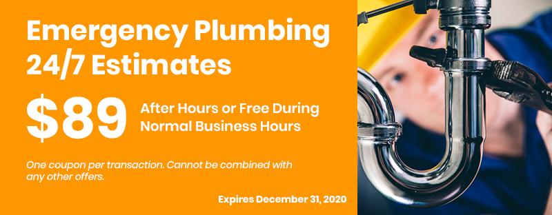 Emergency Plumbing 24/7 Estimates